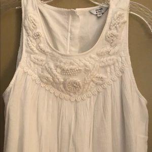 Creme Linen sleeveless top